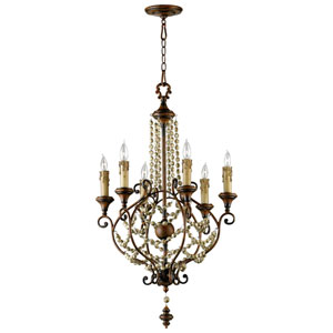 Meriel Antique Sienna Six-Light Chandelier