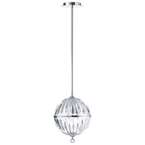 Janus Chrome Small One-Light Globe Pendant