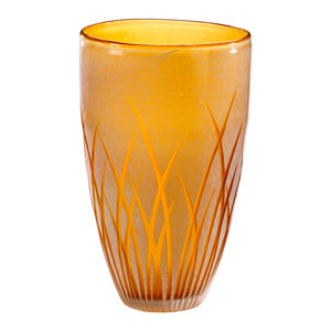 Aquarius Amber and White Large Vase