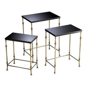 Sanders Antique Flemish and Black Nesting Tables