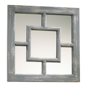 Ashbury Distressed Gray Mirror