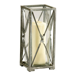 Ascot Rustic Gray Large Candleholder