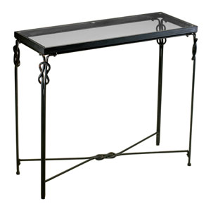 Dupont Rustic Iron Console Table