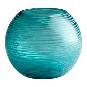Aqua Small Round Libra Vase