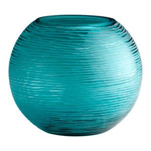 Aqua Large Round Libra Vase