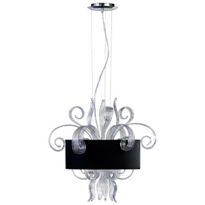 Jellyfish Chrome Three-Light Pendant
