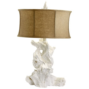 White Driftwood One-Light Table Lamp