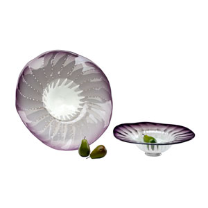 Purple Small Art Glass Bowl Only