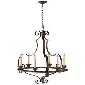 Kensington Gilded Bronze Six-Light Chandelier