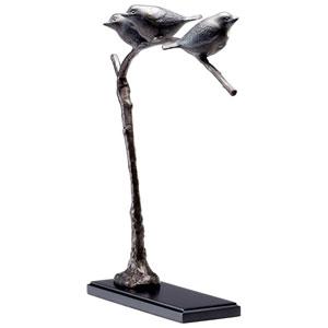 Bronze Patina Birds On A Limb Sculpture