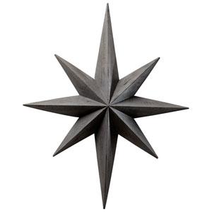 Distressed Gray Star Wall Decoration