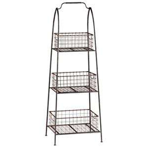 Raw Steel Essex Basket Stand