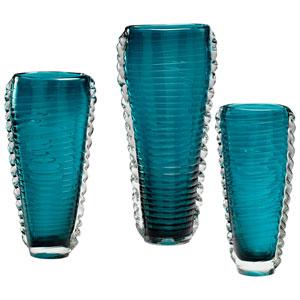 Dollie Cyan Blue Medium Vase
