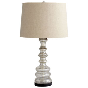 Luxe Golden Crackle One-Light Table Lamp