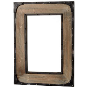 Adler Raw Iron and Natural Wood Mirror