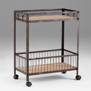 Desmond Raw Iron and Natural Wood Cart