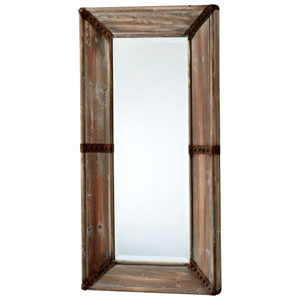 Williams Raw Iron and Natural Wood Mirror