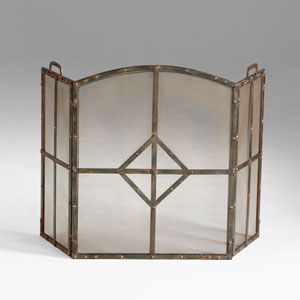 Lincoln Raw Steel Fire Screen