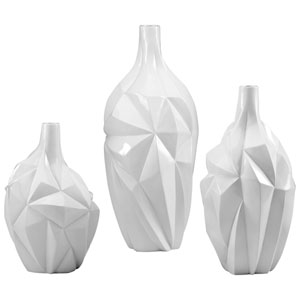 Glacier Gloss White Glaze Large Vase Only