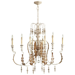 Motivo Persian White Eight-Light Chandelier