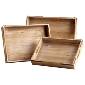 Staton Washed Oak Trays