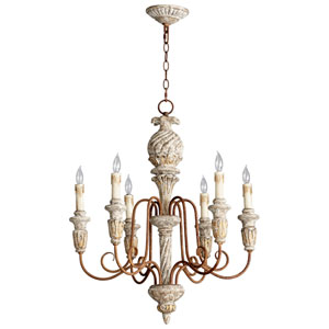 Bateau Golden Roxbury Six-Light Chandelier