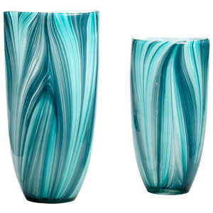 Turin Turquoise Blue Small Vase