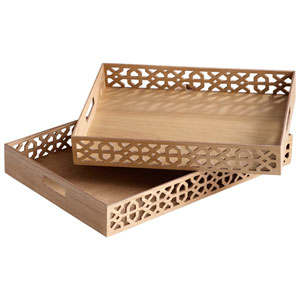 Ash Veneer Rectangular Xoxo Trays