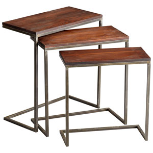 Jules Walnut and Graphite Nesting Tables