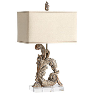Posy Limed Gracewood One-Light Table Lamp
