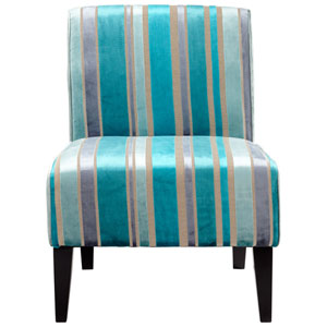Turquoise Blue Ms. Stripy Chair