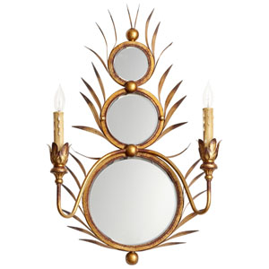 Kingston Gold Two-Light Wall Sconce