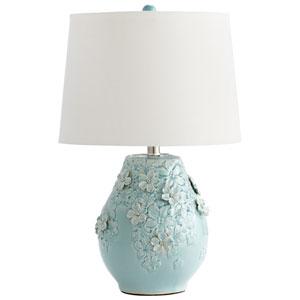 Eire Sky Blue Glaze One-Light Table Lamp