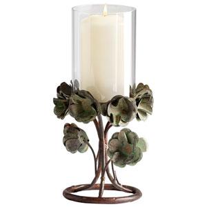 Leigh Bronze Patina Small Candleholder