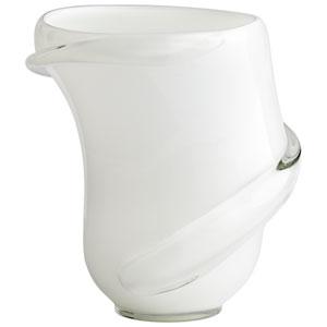 Donatella White and Clear Vase