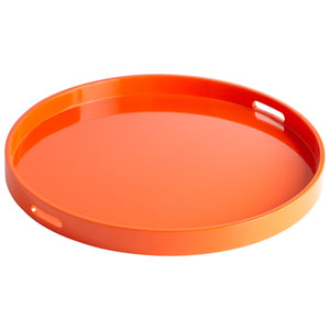 Estelle Orange Lacquer Tray