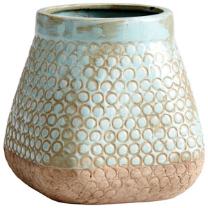 Pershing Sandstone and Blue Small Planter