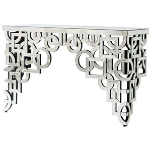 Volos Clear Console Table