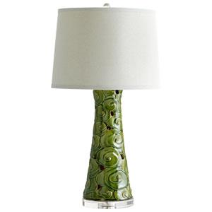 Eva Emerald Glaze One-Light Table Lamp