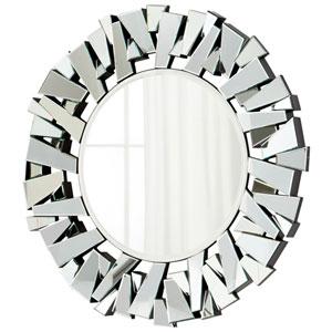 Clear Circle Cityscape Mirror