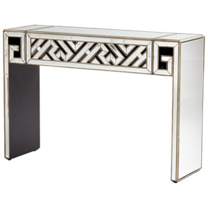 Deco Divide Clear and Gold Console Table