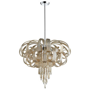 Cindy Lou Who Chrome Ten-Light Chandelier