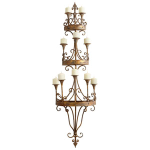 Eastnor Rustic Bronze Wall Candleholder