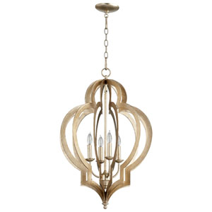 Vertigo Silver Four-Light Chandelier