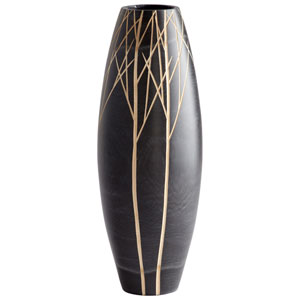 Black Winter Vase