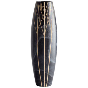 Black Onyx Winter Medium Vase