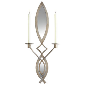 Mystic Silver Exclamation Wall Candleholder