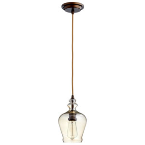 Calista Oiled Bronze One-Light Pendant