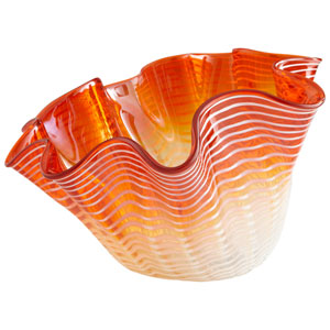 Orange Large Teacup Party Bowl