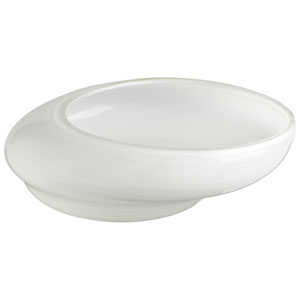 White Large Oyster Bowl
